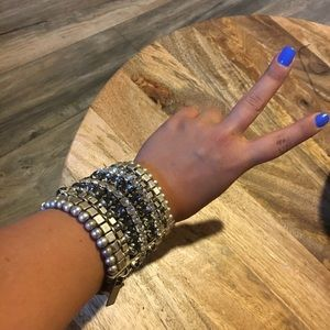 Jimmy Choo jewel stack bracelet